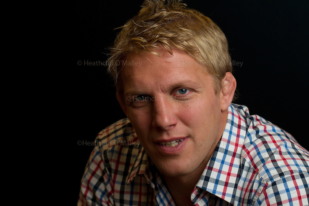"""Mcc0035474 . Daily Telegraph..Former England Rugby Captain Lewis Moody who has just released his book entitled """"Mad Dog"""" ...London 9 November 2011."""