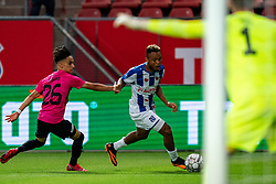 "Chidera Ejuke #8 of Heerenveen, Othman Boussaid #26 of Utrecht. FC Utrecht convincingly won the practice match against sc Heerenveen. The ""Domstedelingen"" were too strong for SC Heerenveen in Stadium Galgenwaard with 4-1<br /> on August 20, 2020 in Utrecht, Netherlands"