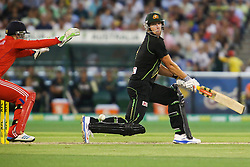 © Licensed to London News Pictures. 26/12/2013. Cameron White batting during the 2nd T20 international between Australia Vs England at the Melbourne Cricket Ground, Victoria, Australia. Photo credit : Asanka Brendon Ratnayake/LNP