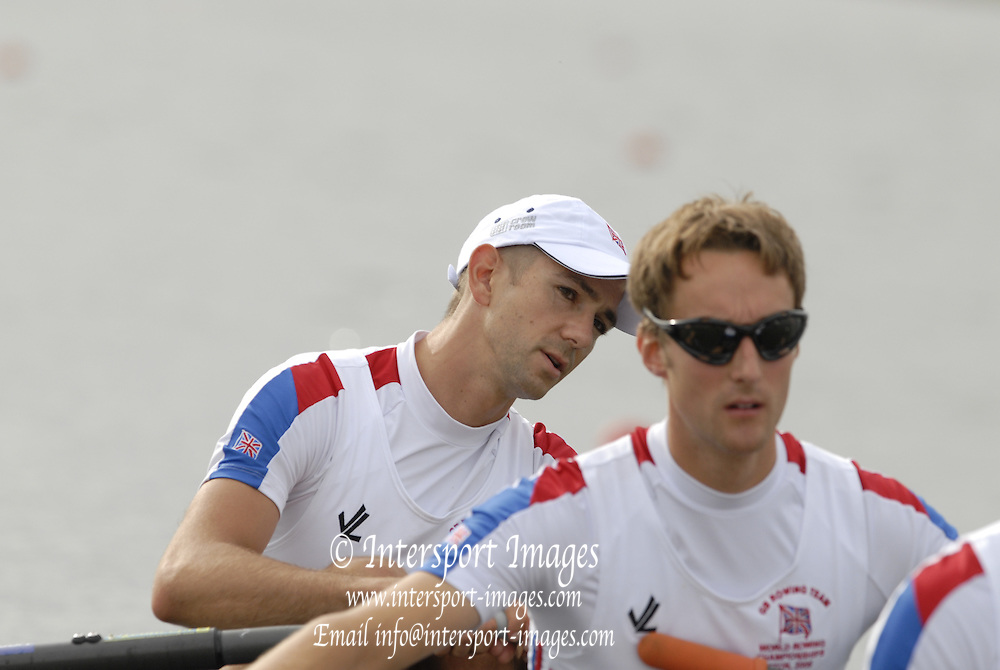 Eton, GREAT BRITAIN, GRB LM4X Bow Time MALE, Alisdair LEIGHTON'CRAWFORD, Ross HUNTER, Dave CURRIE,  2006 World Rowing Championships, 23/08/2006.  Photo  Peter Spurrier, © Intersport Images,  Tel +44 [0] 7973 819 551,  email images@intersport-images.com , Rowing Courses, Dorney Lake, Eton. ENGLAND