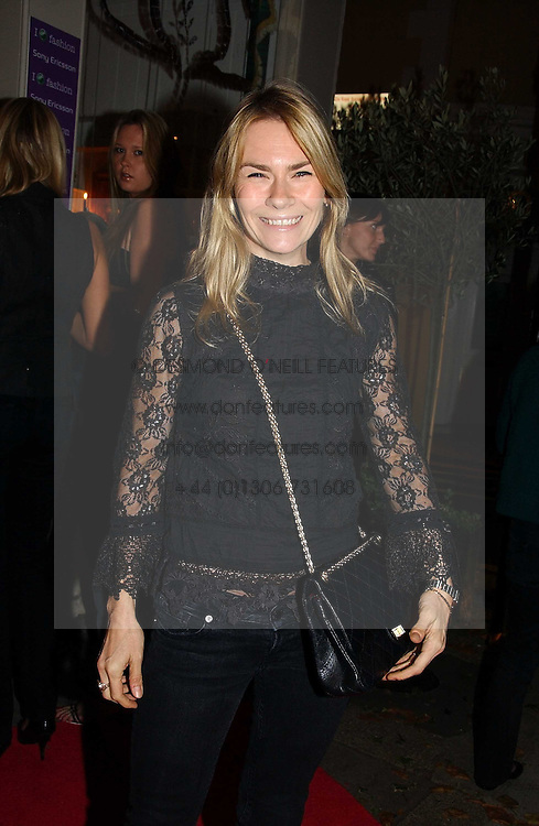 The HON.JACKIE PERTWEE wife of actor Sean Petwee at a party to launch Pearl Lowe's fashion held at The Cross. 141 Portland Road, Holland Park, W11 on 30th October 2006.<br /><br />NON EXCLUSIVE - WORLD RIGHTS