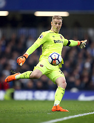 West Ham United goalkeeper Joe Hart during the Premier League match at Stamford Bridge, London.