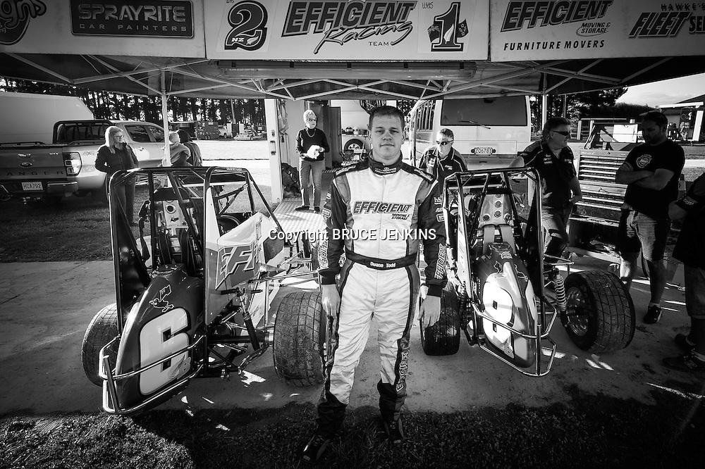 Duane Todd, TQ Midgets, Meeanee Speedway November 2 2013