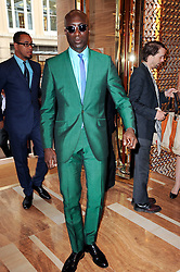 OZWALD BOATENG at a party to celebrate the opening of the Louis Vuitton Bond Street Maison, New Bond Street, London on 25th May 2010.