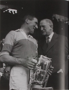 Wexford's Captain Nick O'Donnell with the McCarthy Cup.