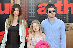 © licensed to London News Pictures. London, UK . 19/04/2011.Sara MacDonald, Noel Gallagher and Noels daughter Anais attend the film premiere of 'Arthur' at the O2 arena in London's Docklands today (19/04/2011). Please see special instructions for usage rates. Photo credit should read Theo Wood/LNP