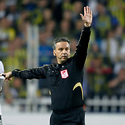 Referee's Mustafa Kamil Abitoglu during their Turkish superleague soccer match Fenerbahce between Akhisar Belediyespor at the Sukru Saracaoglu stadium in Istanbul Turkey on Sunday 31 March 2013. Photo by TURKPIX