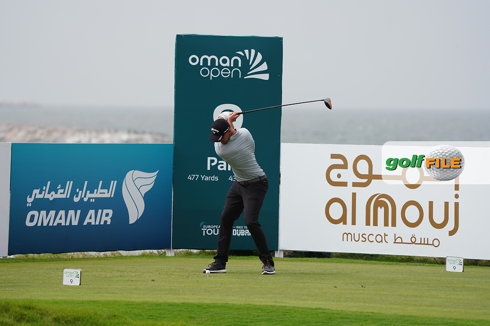 Ben Stow (ENG) on the 9th during Round 1 of the Oman Open 2020 at the Al Mouj Golf Club, Muscat, Oman . 27/02/2020<br /> Picture: Golffile | Thos Caffrey<br /> <br /> <br /> All photo usage must carry mandatory copyright credit (© Golffile | Thos Caffrey)