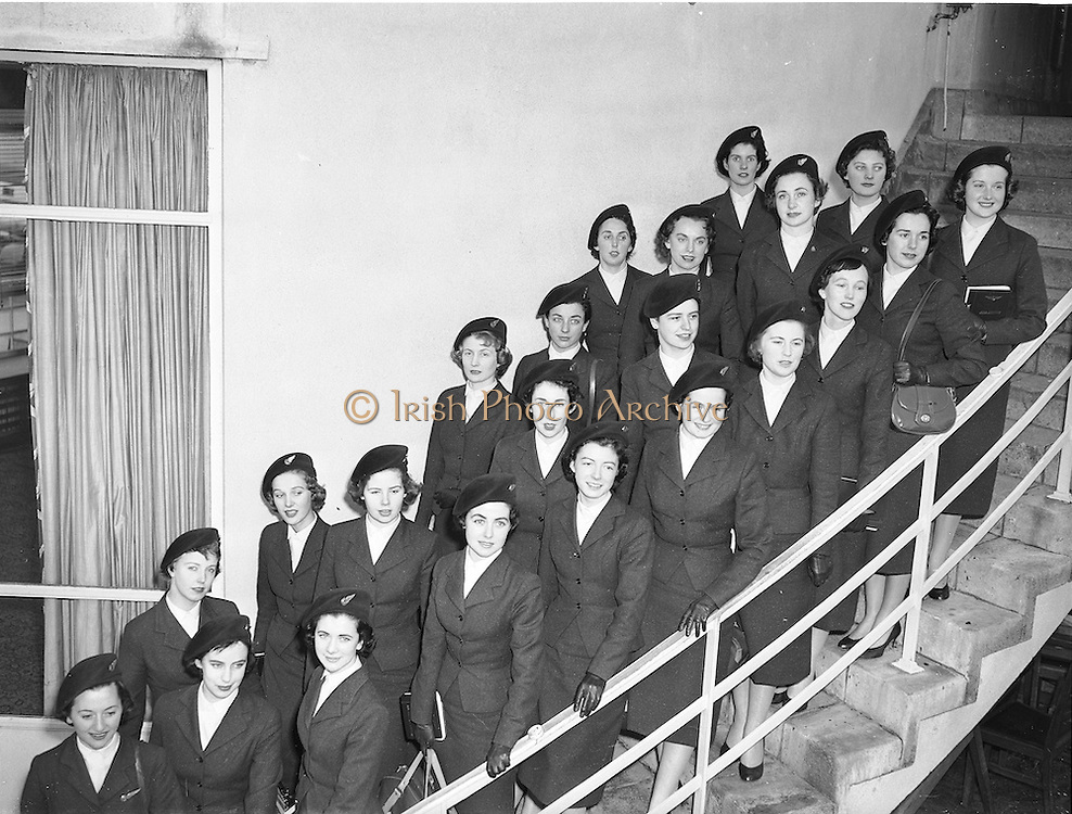 18/02/1958<br /> 02/18/1958<br /> 8 February 1958<br /> <br /> Aer Lingus special Air Hostesses at Dublin Airport