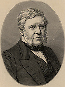 Thomas Bazeley (1797-1885) English cotton manufacturer, merchant and politician. A member of the Anti-Cornlaw League.  Member of Parliament for Manchester 1858-1880.   Engraving from 'Great Industries of Great Britain' (London, c1880).
