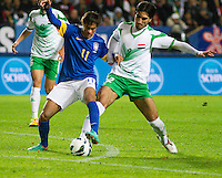 Malmö  2012-10-11  Fotboll  Landskamp  Brazil    - Iraq   :  Brazil 11 Neymar Iraq2 Ahmed Ibrahim.(Foto: Christer Thorell, Pic-Agency.com) Nyckelord : fotboll , football , soccer , Landskamp , Herrar , Men , Brazil , Iraq , .