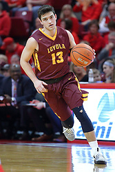 19 February 2017:  Clayton Custer during a College MVC (Missouri Valley conference) mens basketball game between the Loyola Ramblers and Illinois State Redbirds in  Redbird Arena, Normal IL