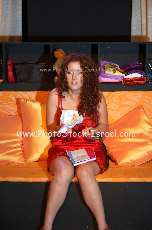 Young woman, in her 20s, aggravated after reading a love letter model release