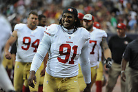 August 28, 2014: San Francisco 49ers defensive tackle Ray McDonald (91) during the preseason matchup Houston Texans vs. San Francisco 49ers at NRG stadium in Houston, Tx. NFL American Football Herren USA AUG 28 Preseason - 49ers at Texans PUBLICATIONxINxGERxSUIxAUTxHUNxRUSxSWExNORxONLY Icon1408254937<br />