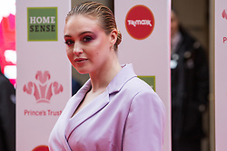 London, UK. 13th March, 2019. Iskra Lawrence arrives at the London Palladium to attend the annual Prince's Trust Awards to be presented by HRH the Prince of Wales, President of the Prince's Trust. The Prince's Trust and TKMaxx & Homesense Awards recognise young people who have succeeded against the odds, improved their chances in life and had a positive impact on their local community.