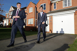 Ed Miliband MP, Leader of the Opposition with candidate Andy Sawford, Great Oakley, Corby, Northamptonshire, October 30, 2012.  Photo By Tim Scrivener / i-Images