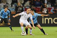 Fotball<br /> Frankrike v Uruguay<br /> Foto: Dppi/Digitalsport<br /> NORWAY ONLY<br /> <br /> FOOTBALL - FIFA WORLD CUP 2010 - GROUP STAGE - GROUP A - URUGUAY v FRANCE - 11/06/2010<br /> <br /> FRANCK RIBERY (FRA) / MAXIMILIANO PEREIRA (URU)