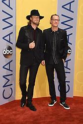 Brian Kelley und Tyler Hubbard, Florida Georgia Line bei den 50. Country Music Awards in Nashville / 021116<br /> <br /> *** Country Music Awards 2016, Nashville, USA, November 2, 2016 ***