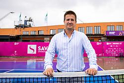 PORTOROZ, SLOVENIA - SEPTEMBER 16: Tomislav Poljak (ATP Umag) at WTA 250 Zavarovalnica Sava Portoroz at SRC Marina, on September 15, 2021 in Portoroz / Portorose, Slovenia. Photo by Matic Klansek Velej / Sportida