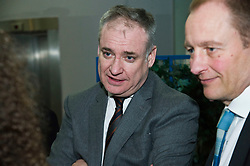 Pictured: Science Minister Richard Lochhead chats to Scottish Science Advisory Council Chair Professor Paul Boyle <br /> <br /> Science Minister Richard Lochhead, Scottish Science Advisory Council Chair Professor Paul Boyle and Scotland's Chief Scientific Adviser Professor Sheila Rowan spoke at the official launch of a major new report on Scottish science.  The report examines the scientific landscape in Scotland between 2007 and 2016 and compared how the Scottish science and research sector has performed against other similar sized countries.  A number of scientific research projects from research institutions across Scotland will also exhibited at the event.<br /> <br /> <br /> Ger Harley | EEm 23 January 2019