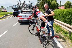 Matteo TRENTIN of UAE TEAM EMIRATESduring 1st Stage of 27th Tour of Slovenia 2021 cycling race between Ptuj and Rogaska Slatina (151,5 km), on June 9, 2021 in Sports park Kranj, Kranj, Slovenia. Photo by Ziga Zupan / Sportida