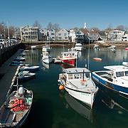 Scenic Rockport Harbor on Cape Ann Massachusetts
