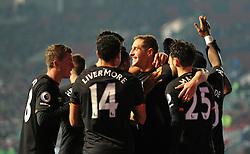 Michael Dawson of Hull City celebrates with his team mates - Mandatory by-line: Paul Knight/JMP - 25/10/2016 - FOOTBALL - Ashton Gate - Bristol, England - Bristol City v Hull City - EFL Cup