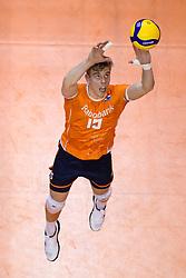 06-01-2020 NED: CEV Tokyo Volleyball European Qualification Men, Berlin<br /> Match Serbia vs. Netherlands 3-0 / Gijs van Solkema #15 of Netherlands
