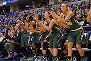 April 4, 2016; Indianapolis, Ind.; The UAA bench cheers on the team in the NCAA Division II Women's Basketball National Championship game at Bankers Life Fieldhouse between UAA and Lubbock Christian. The Seawolves lost to the Lady Chaps 78-73.