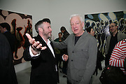 JAKE MILLER AND MICHAEL CRAIG-MARTIN, private view  of new exhibition by Tim Stoner , Alison Jacques Gallery in new premises in Berners St., London, W1 ,Afterwards across the rd. at the Sanderson Hotel. 3 May 2007. DO NOT ARCHIVE-© Copyright Photograph by Dafydd Jones. 248 Clapham Rd. London SW9 0PZ. Tel 0207 820 0771. www.dafjones.com.