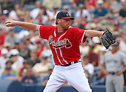 ATLANTA - JUNE 28:  Pitcher Tommy Hanson #48 of the Atlanta Braves delivers a pitch during the game against the Boston Red Sox at Turner Field on June 28, 2009 in Atlanta, Georgia.  The Braves beat the Red Sox 2-1.  (Photo by Mike Zarrilli/Getty Images)