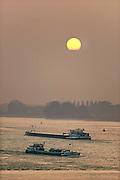 Nederland, Waal, 20-6-2013Verkeer van binnenvaartschepen op de waal. Foto: Flip Franssen/Hollandse Hoogte