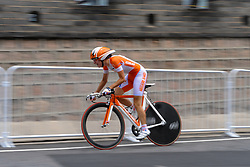 Marianne Vos of Netherlands in action during the Olympic <br /> individual time trial on August 13, 2008 in Beijing