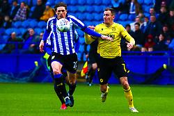 Jed Wallace of Millwall puts pressure on Adam Reach of Sheffield Wednesday - Mandatory by-line: Ryan Crockett/JMP - 01/02/2020 - FOOTBALL - Hillsborough - Sheffield, England - Sheffield Wednesday v Millwall - Sky Bet Championship