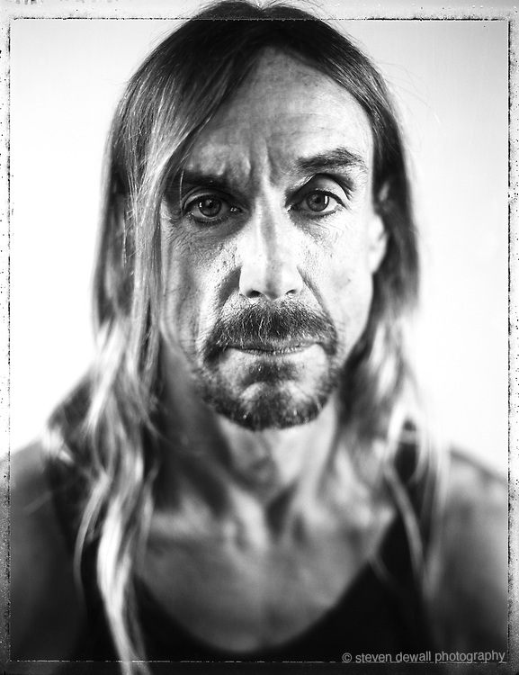 Iggy Pop photographed in Williamsburg, NY.