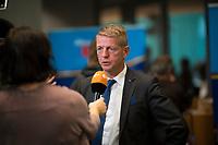 DEU, Deutschland, Germany, Berlin, 26.09.2017: Karsten Hilse (MdB, AfD) bei einem Interview vor der ersten Fraktionssitzung der AfD-Bundestagsfraktion im Deutschen Bundestag.