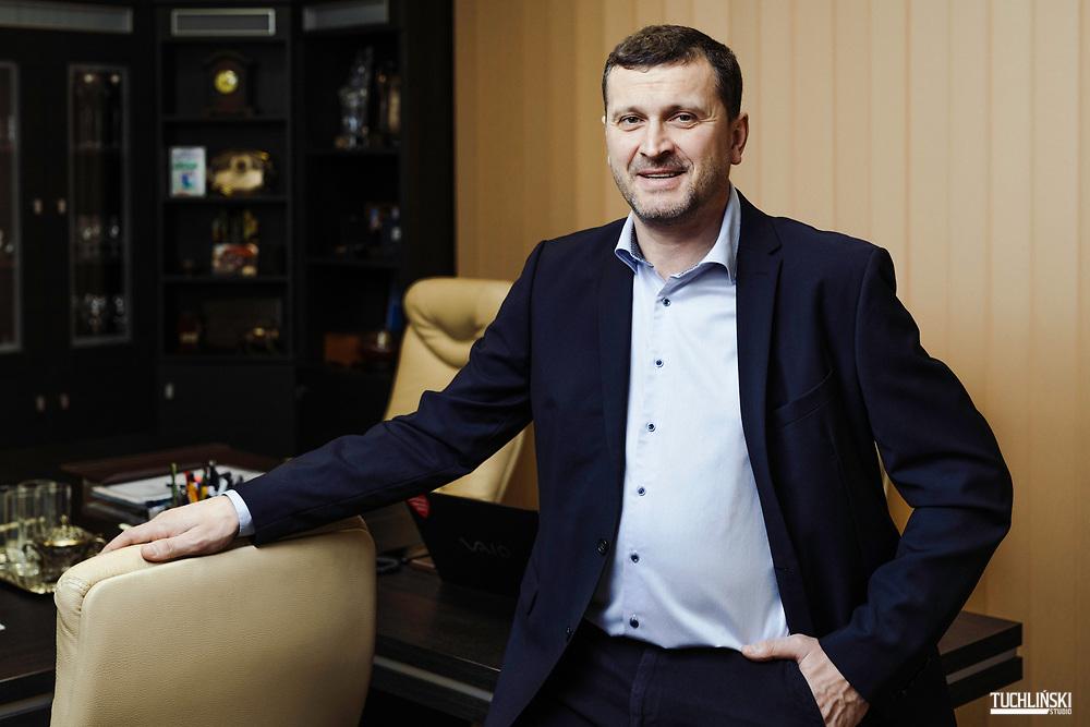 Jedwabne, (podlskie), Polska. 08.01.2021<br /> Prezes firmy SONAROL - Stanisław Najda.<br /> Fot. Adam Tuchlinski dla Forbes