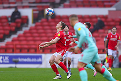 Ryan Yates of Nottingham Forest eyes the ball - Mandatory by-line: Nick Browning/JMP - 29/11/2020 - FOOTBALL - The City Ground - Nottingham, England - Nottingham Forest v Swansea City - Sky Bet Championship