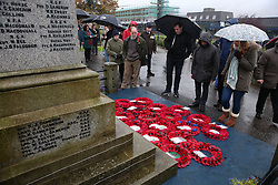 A Remembrance Sunday service in Fort William town centre, held in tribute for members of the armed forces who have died in major conflicts.