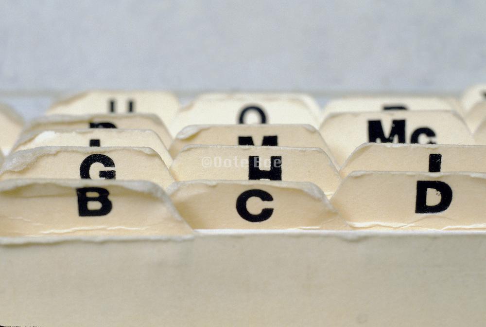 alphabetical file folder