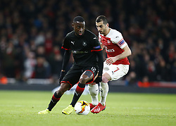 March 14, 2019 - London, United Kingdom - London, UK, 14 March, 2019.James Lea Siliki of Rennes.during Europa League Round of 16 2nd Leg  between Arsenal and Rennes at Emirates stadium , London, England on 14 Mar 2019. (Credit Image: © Action Foto Sport/NurPhoto via ZUMA Press)