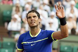 June 2, 2017 - Paris, Frankreich - Paris, 02.06.2017, Tennis - French Open 2017, Rafael Nadal (ESP) jubelt nach dem Spiel  (Credit Image: © Pascal Muller/EQ Images via ZUMA Press)