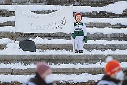01.01.2021, Olympiaschanze, Garmisch Partenkirchen, GER, FIS Weltcup Skisprung, Vierschanzentournee, Garmisch Partenkirchen, Einzelbewerb, Herren, im Bild Veltins Puppe auf der Tribüne // Veltins Doll in the stands during the men's individual competition for the Four Hills Tournament of FIS Ski Jumping World Cup at the Olympiaschanze in Garmisch Partenkirchen, Germany on 2021/01/01. EXPA Pictures © 2020, PhotoCredit: EXPA/ JFK