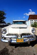Old American car in Cienfuegos, Cuba.
