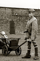 Orphan of the regiment Soviet 699th Separate Battalion with Hand cart - Nww2A Fort Paull<br /> <br />  Copyright Paul David Drabble<br /> 5th & 6th May 2019<br />  www.pauldaviddrabble.co.uk