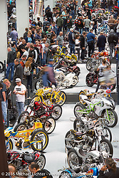 AMD World Championship of Custom Bike Building in the custom dedicated Hall 10 at the Intermot Motorcycle Trade Fair. Cologne, Germany. Sunday October 9, 2016. Photography ©2016 Michael Lichter.