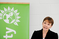 © Licensed to London News Pictures. 02/05/2017. London, UK. Caroline Lucas MP, Co-Leader of the Green Party, speaks at the Green Party launch of their Brexit policy in Hackney. Photo credit : Stephen Chung/LNP