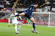 Son Heung-Min of Tottenham Hotspur in action.The Emirates FA Cup, quarter-final match, Swansea city v Tottenham Hotspur at the Liberty Stadium in Swansea, South Wales on Saturday 17th March 2018.<br /> pic by  Andrew Orchard, Andrew Orchard sports photography.