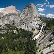 Nevada Falls and Liberty Cap, Yosemite National Park, California.