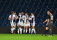 West Bromwich Albion U18's Jamie Soule celebrates scoring the opening goal with team-mates<br /> <br /> Photographer Andrew Vaughan/CameraSport<br /> <br /> FA Youth Cup Round Three - West Bromwich Albion U18 v Lincoln City U18 - Tuesday 11th December 2018 - The Hawthorns - West Bromwich<br />  <br /> World Copyright © 2018 CameraSport. All rights reserved. 43 Linden Ave. Countesthorpe. Leicester. England. LE8 5PG - Tel: +44 (0) 116 277 4147 - admin@camerasport.com - www.camerasport.com